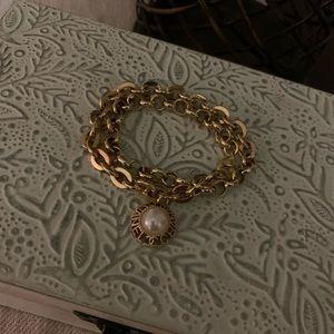 💯Auth Chanel button bracelet